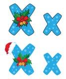 Brief X Kerstmis Royalty-vrije Stock Fotografie