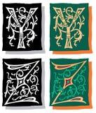 Brief Y en Z, Grijs en Kleur Stock Foto's