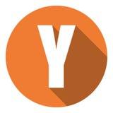 Brief Y met een lange schaduw Vector illustratie EPS10 vector illustratie