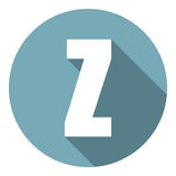 Brief Z met een lange schaduw Vector illustratie EPS10 vector illustratie