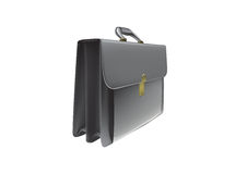 Briefcase. 3D illustration of an executive briefcase Stock Image