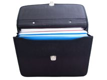 Briefcase. Business luggage briefcase or suitcase isolated stock photos