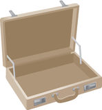 Briefcase. An open brown briefcase illustration Royalty Free Stock Images