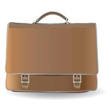 Briefcase. Brown briefcase with two locks Stock Images