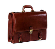 Briefcase. Brown leather briefcase of a businessman royalty free stock photography