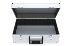 Briefcase Aluminum. Camera Hardcase. Inside view. Aluminum Stock Images