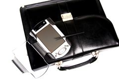 Free Briefcase And Pocket Pc. Royalty Free Stock Photography - 4680227