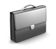Briefcase. Black men briefcase on white background - 3D illustration Royalty Free Stock Photography