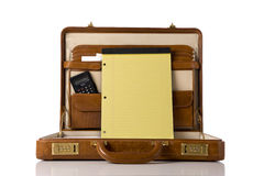 Briefcase with blank tablet Royalty Free Stock Photos