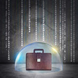 Briefcase in bubble Royalty Free Stock Images