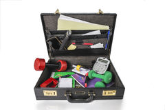 Briefcase for business and exercice Royalty Free Stock Image