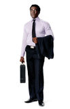 Briefcase business man royalty free stock photos