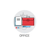 Briefcase Business Office Stuff Icon Stock Image