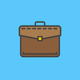 Briefcase, business portfolio filled outline icon, colorful vector sign Stock Images