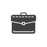 Briefcase, business portfolio icon vector, filled flat sign, solid pictogram isolated on white. Symbol, logo illustration. Royalty Free Stock Photos