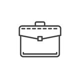 Briefcase, business portfolio line icon, outline vector sign, linear style pictogram isolated on white. Symbol, logo illustration. Royalty Free Stock Image