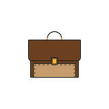 Briefcase and business solid icon, finance Royalty Free Stock Photography