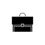 Briefcase and business solid icon, finance. And managment, vector graphics, a filled pattern on a white background, eps 10 Royalty Free Stock Photo