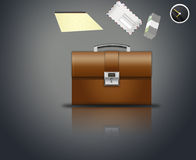 Briefcase businessman Royalty Free Stock Image