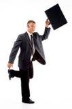 briefcase businessman running Στοκ φωτογραφία με δικαίωμα ελεύθερης χρήσης