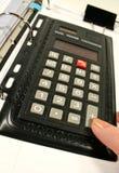 Briefcase Calculator Stock Photo