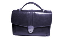 Briefcase (case) isolated tone. Briefcase (case) on white background, isolated, insulated, with clipping path for photoshop, with path, for designer Royalty Free Stock Photo