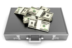 Briefcase with Cash Stock Photography