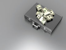 Briefcase with Cash Royalty Free Stock Photo