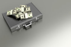 Briefcase with Cash Royalty Free Stock Photography