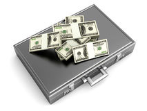 Briefcase with Cash Stock Image
