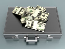 Briefcase with Cash Royalty Free Stock Photos