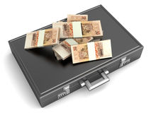 Briefcase with Cash Stock Images