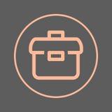 Briefcase circular line icon. Portfolio round colorful sign. Flat style vector symbol. Royalty Free Stock Photo