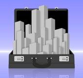 Briefcase city Stock Photography