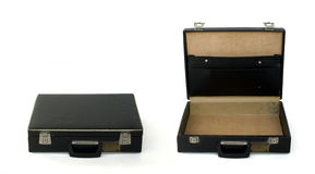 Briefcase Closed And Opened Royalty Free Stock Image