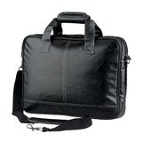 Briefcase or computer leather bag isolated stock image