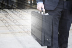 Briefcase and Dollar Stock Photo