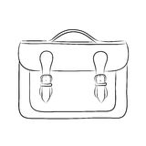 Briefcase drawing Royalty Free Stock Photos