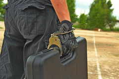 Specially Protected Suitcase Stock Image