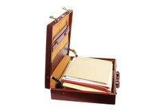 Briefcase with Files Royalty Free Stock Photo