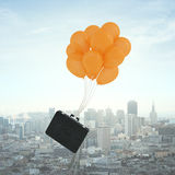 Briefcase flying Royalty Free Stock Image