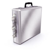 Briefcase full of Dollars Bills Royalty Free Stock Images