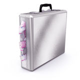 Briefcase full of Euro Bills Royalty Free Stock Photo