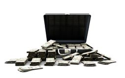 Briefcase full of money stock photography