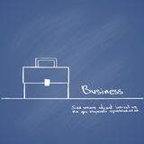 Briefcase Hand Draw Color Icon Vector. Illustration Stock Image