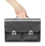 Briefcase in a hand Stock Image