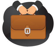Briefcase in hands Royalty Free Stock Photo