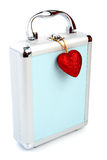 Briefcase and heart isolated Stock Photo