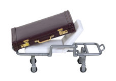 Briefcase on Hospital Gurney Stock Image