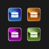 Briefcase icon on colored buttons Royalty Free Stock Photo